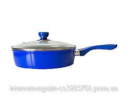 Сковорода с мраморным покрытием Giakoma 26 см Синий (2280)