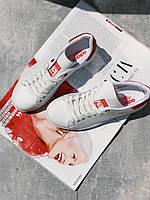 Кроссовки  Adidas Stan Smith белые с красным задником, фото 1