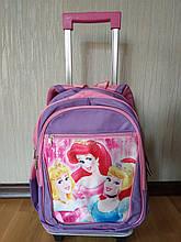 """Рюкзак на колесах """"Princesses"""" со съемной тележкой"""