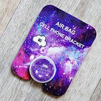 Держатель для телефона/планшета с переливающимися блесткам Popsocket фиолетовый