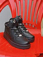 Кроссовки Nike Air Force Colors Black, фото 1