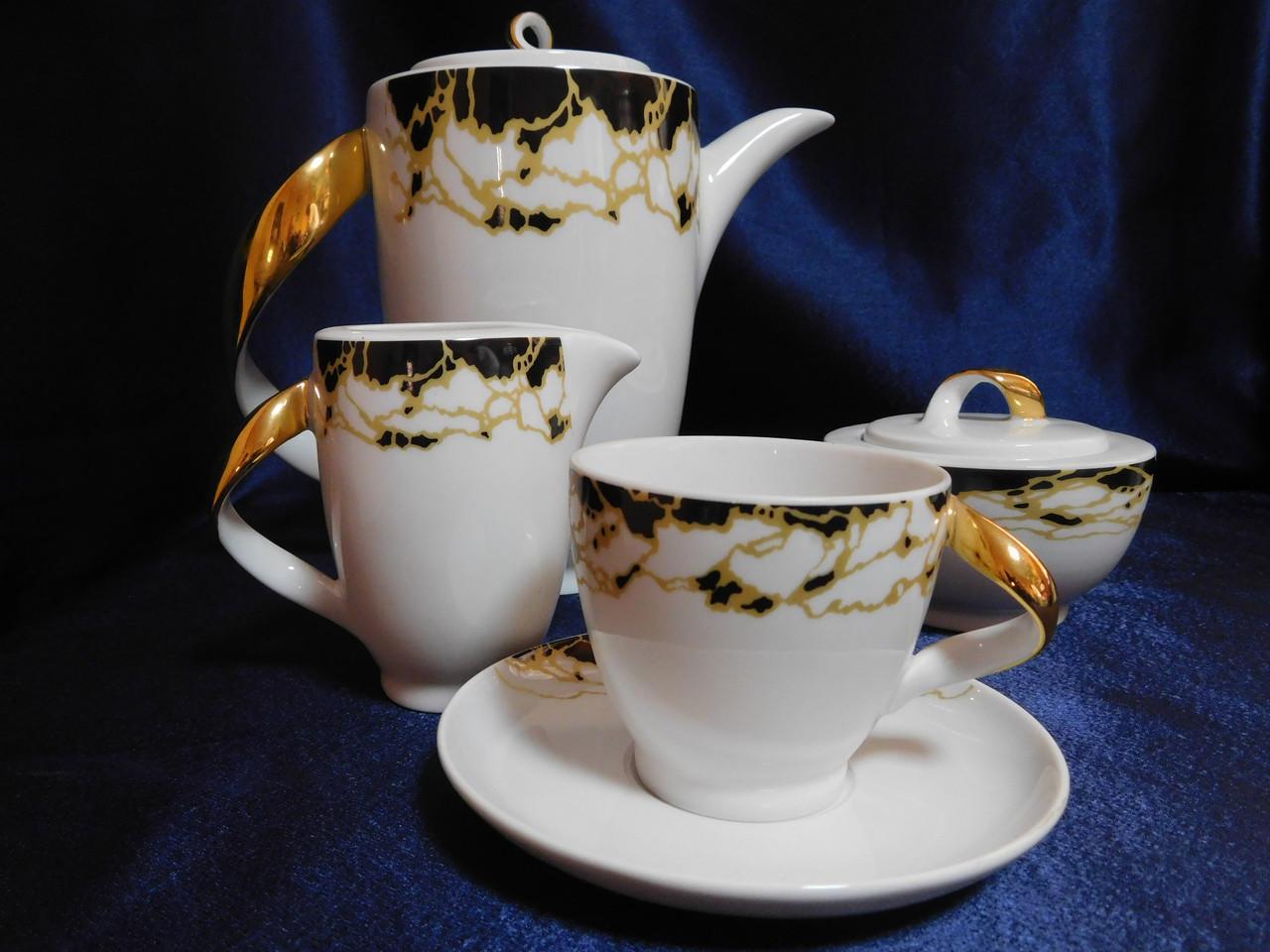 Сервиз кофейный Chodziez Mobius 0068 на 6 персон 15 предметов (4133)