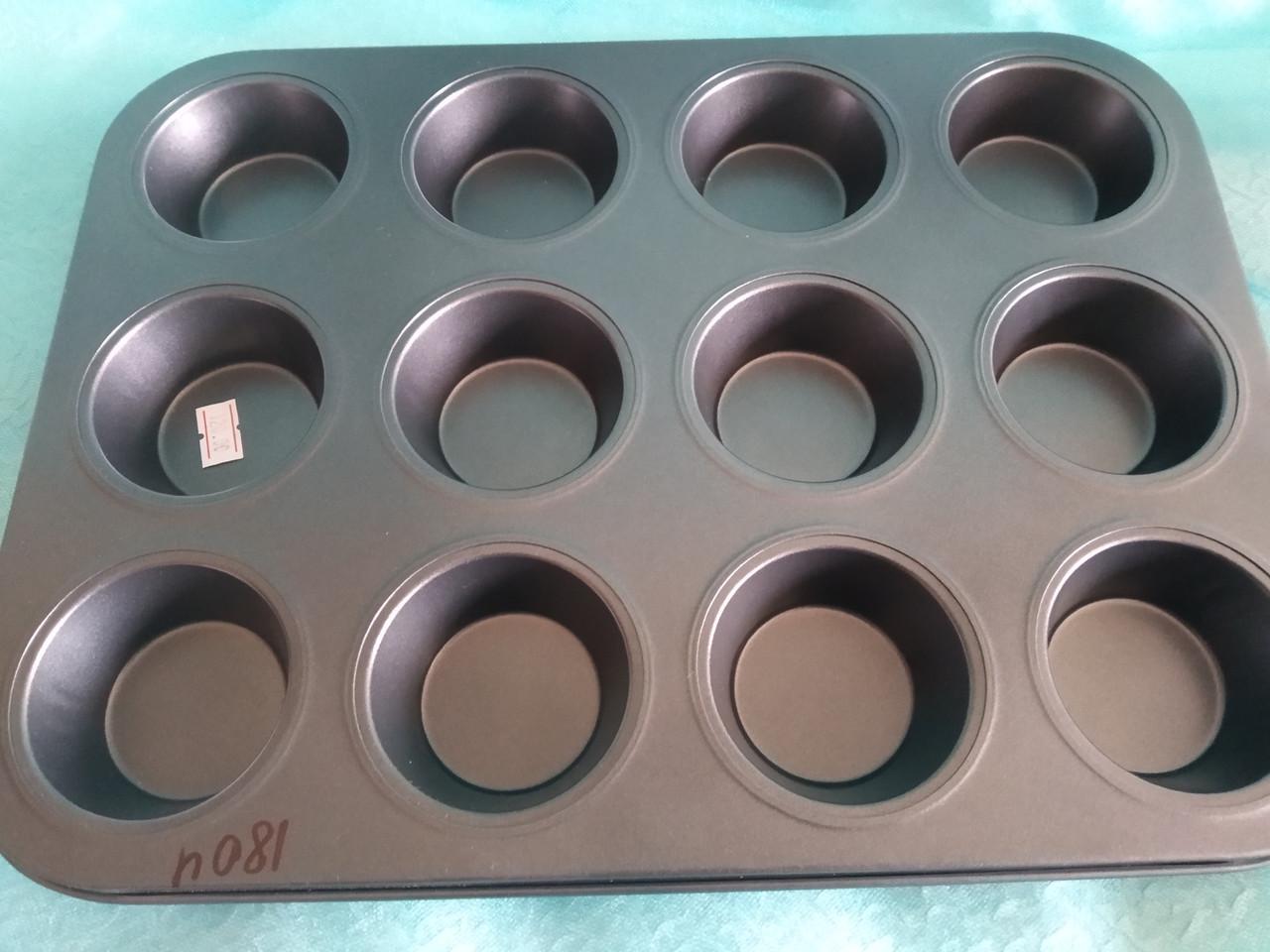 Тефлоновая форма  для маффинов  12 шт