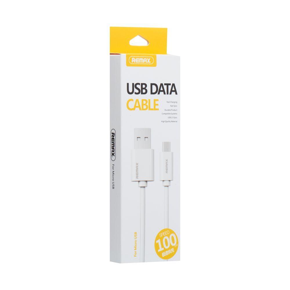 USB кабель Remax RC-007m Fast Charging Micro (1м, белый)