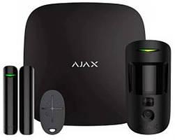 Комплект охранной сигнализации Ajax StarterKit Cam Black (16582.42.BL1/20291.58.bl1)