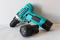 Аккумуляторный Шуруповерт Kronor KR16 с 2 аккумуляторами! (зеленый)