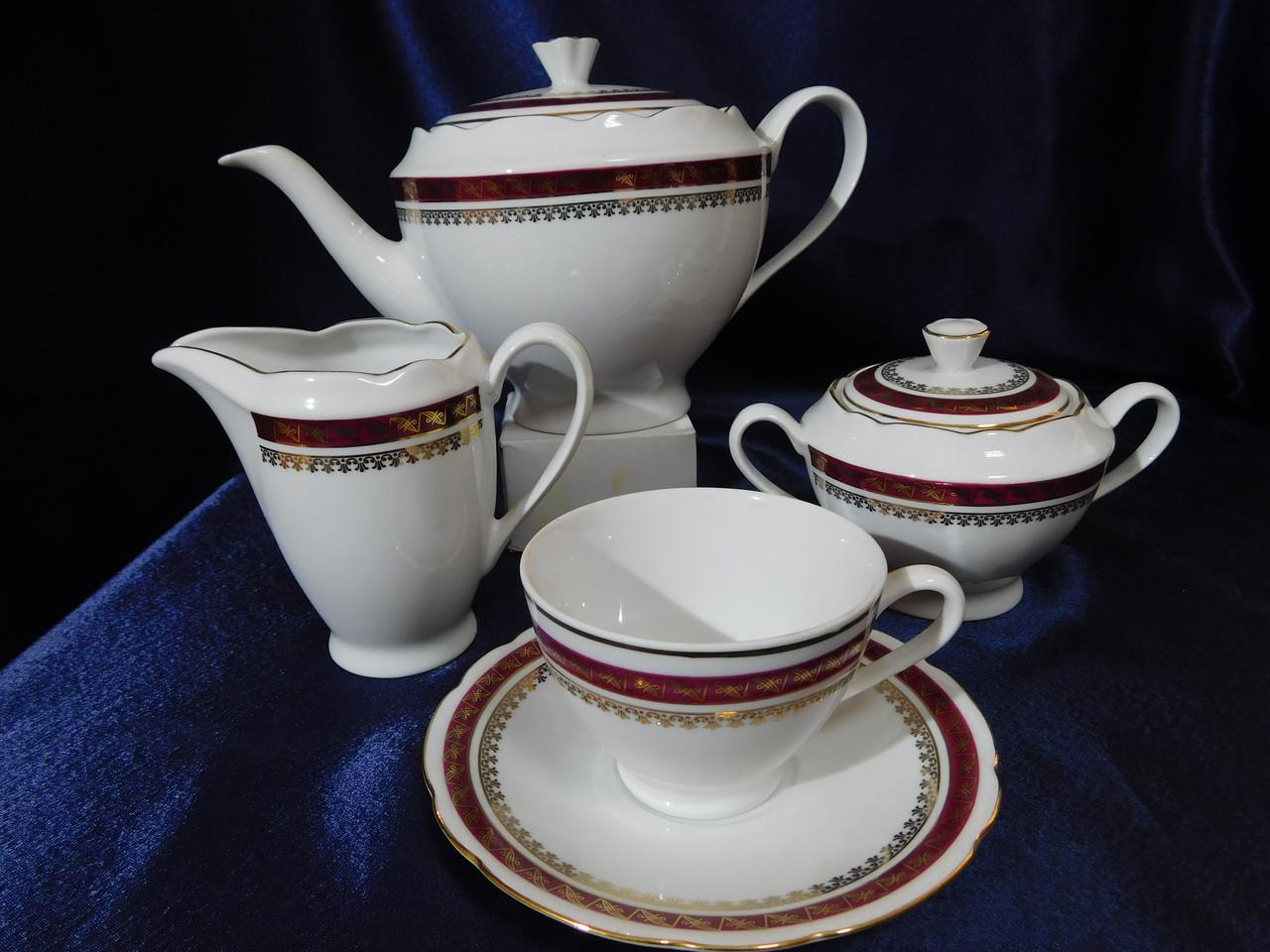 Чайний сервіз Cmielow Feston 1365 на 6 персон 15 предметів (5107)