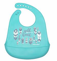Слюнявчик силиконовый blu Canpol babies-74/023