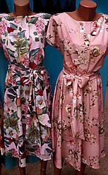 Красивое летнее платье с цветочным принтом размеры 44-46,48-50,52-54,56-58