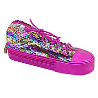 Пенал мягкий YES TP-24  ''Sneakers with sequins'' rainbow