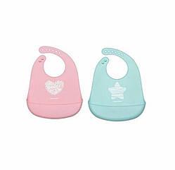 Слюнявчик силиконовый Canpol babies-74/024 PASTEL