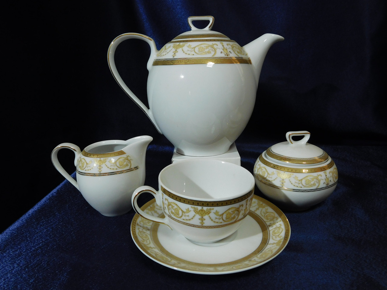 Чайный сервиз Cmielow Yvonne 9968 на 6 персон 15 предметов (6028)