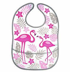 Слюнявчик пластиковый мягкий с карманом «Jungle» - 9/238 коралловый