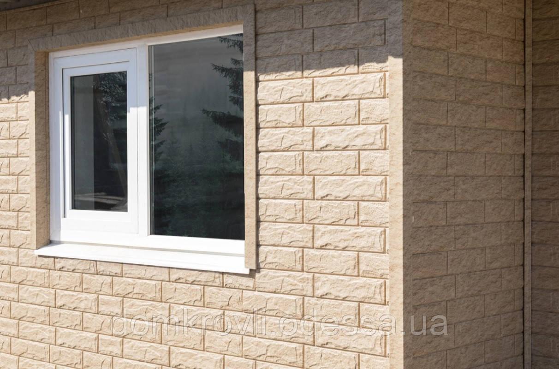 Вініловий сайдинг Stone House Стоун-Хаус Камінь Золотистий