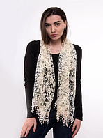 Праздничный шарф Fashion Вивея 170*60 см бежевый