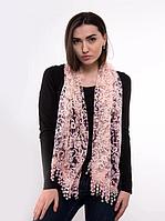 Праздничный шарф Fashion Вивея 170*60 см персиковый