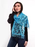 Праздничный шарф Fashion Вивея 170*60 см голубой