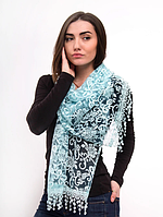 Праздничный шарф Fashion Вивея 170*60 см светло-голубой