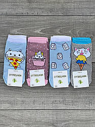 Дитячі підліткові шкарпетки бамбук Montebello для дівчаток 9,11 років 12 шт в уп мікс 4 кольорів