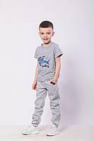 Утепленные спортивные брюки для мальчиков и девочек 1-9 лет (штаны, р. 86-134) ТМ Модный карапуз Серый