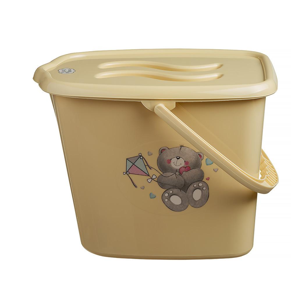 Ведерко для подгузников и воды Maltex Bear 2145 beige