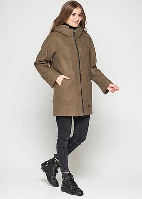 Короткое женское пальто  (весна-осень) с капюшоном, в маленьких размерах, какао (38-46), фото 3