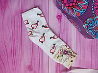 """Носки женские высокие """"Украинский трикотаж"""" Сердца, 50/50 хлопок/бамбук, размер 36-40, цвет белый"""
