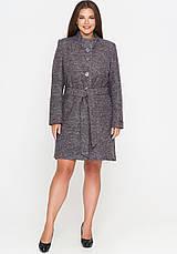 Женское демисезонное пальто из вареной шерсти (весна-осень) бежевое (50-58), фото 3