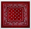 Классическая бандана, 55*55 см, бордовый