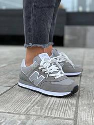 Женские кроссовки New Balance 574 Nem Grey / White