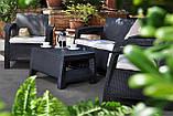 Стол садовый Allibert by Keter Corfu Coffee Table Graphite ( графит ), фото 9