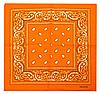 Классическая бандана, 55*55 см, оранжевый