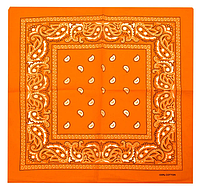 Классическая бандана, 55*55 см, оранжевый, фото 1