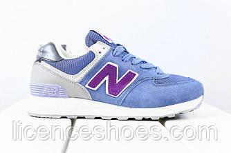 Женские кроссовки New Balance 574 Vintage Blue / Grey / Purple