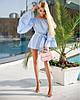 Модный летний комбинезон женский с объемными рукавами TM B&H (5 цветов) АА/-3009 - Голубой
