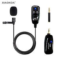 Універсальний Бездротовий Петличний мікрофон з приймачем XIAOKOA Wireless UHF