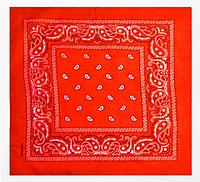 Классическая бандана, 55*55 см, красный