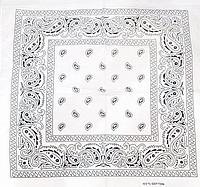 Классическая бандана, 55*55 см, белый