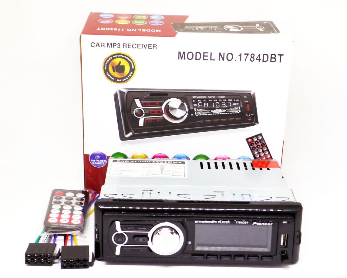 Автомагнитола Pioneer 1784DBT Bluetooth - USB+RGB подсветка+FM+AUX+Пульт