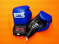REYVEL Перчатки боксерские ПРО с застежкой 8 oz Синие