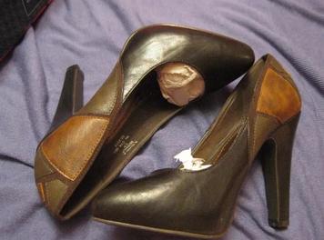 Классика новые туфли стильные удобные 36 р коричневые комбинированный цвет