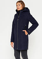 Короткое женское пальто (весна-осень) синее (40-48)