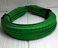 (50шт) Обруч  обмотанный атласной лентой  (5мм металлический).Цена за 50 шт. Цвет - зеленый (сп7нг-4680)
