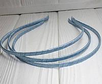 Обруч для волос обмотанный атласной лентой (ширина 5мм). Цвет - голубой (сп7нг-4557)