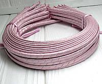 (50шт) Обруч  обмотанный атласной лентой  (5мм металлический).Цена за 50 шт. Цвет - розовый (сп7нг-4685)