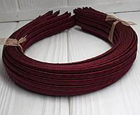 (50шт) Обруч  обмотанный атласной лентой  (5мм металлический).Цена за 50 шт. Цвет - бордовый (сп7нг-4677)
