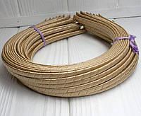 (50шт) Обруч  обмотанный атласной лентой  (5мм металлический).Цена за 50 шт. Цвет - бежевый (сп7нг-4678)