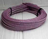 (50шт) Обруч  обмотанный люрексовой лентой  (5мм металлический).Цена за 50 шт. Цвет - пудровый (сп7нг-4686)