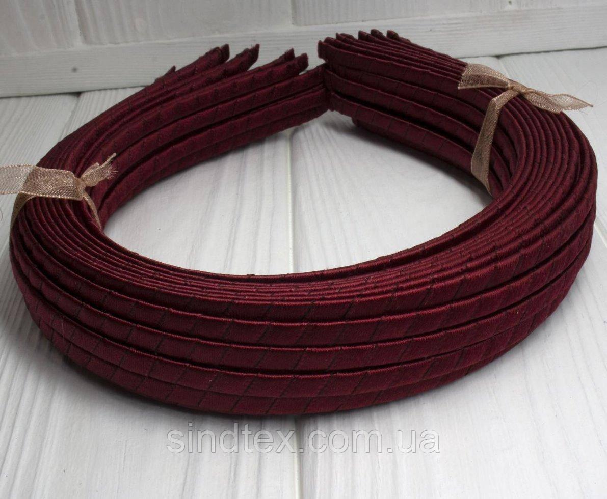(50шт) Обруч  обмотанный атласной лентой  (5мм металлический).Цена за 50 шт. Цвет - бордовый (сп7нг-3234)