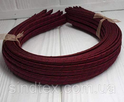 (50шт) Обруч  обмотанный атласной лентой  (5мм металлический).Цена за 50 шт. Цвет - бордовый (сп7нг-3234), фото 2